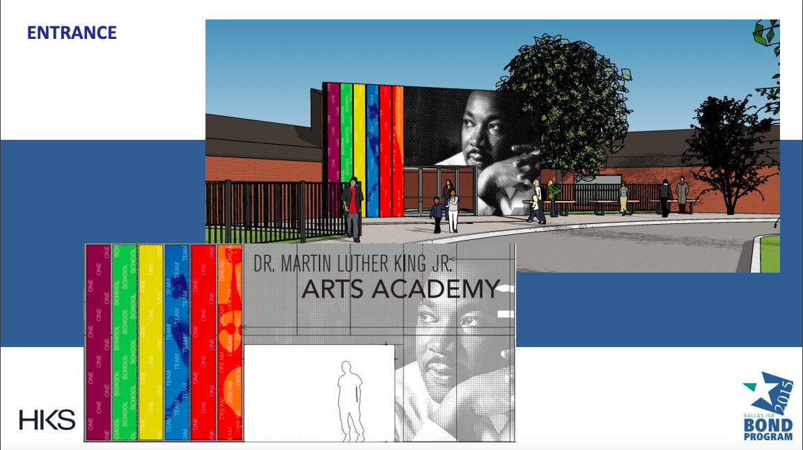 A $7 million facelift will transform South Dallas' MLK school into an arts academy